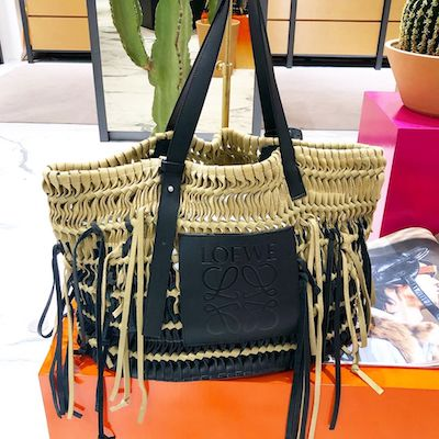 Woven Tote Bag Gold/Black