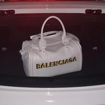 Monday Logo-print Leather Bowling Bag