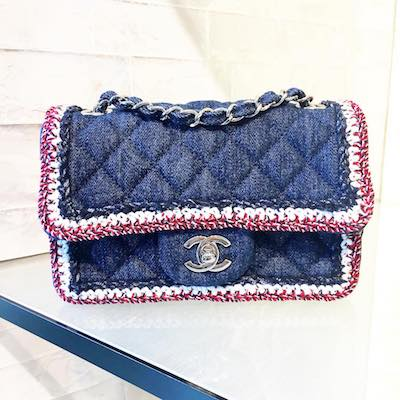 Denim Flap Bag