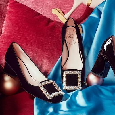 Très Vivier Strass Buckle Pumps