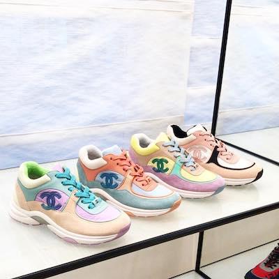 Nylon, Lambskin & Suede Calfskin Sneakers