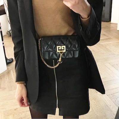 Pocket quilted-leather cross-body bag
