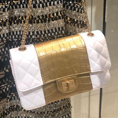 White Gold Reissue Flap Bag
