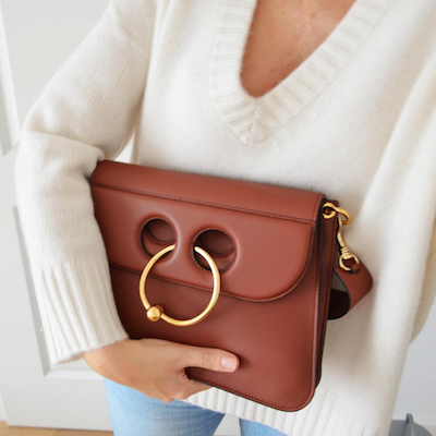Ring Detail Shoulder Bag
