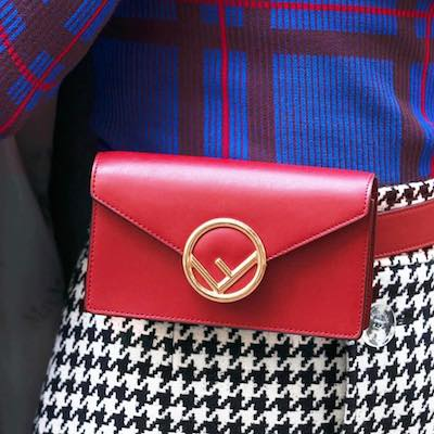 Red Logo Belt Bag