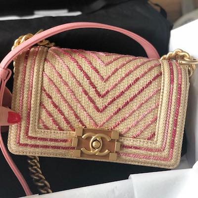 Small Boy Cotton and Mixed Fiber Chanel Handbag