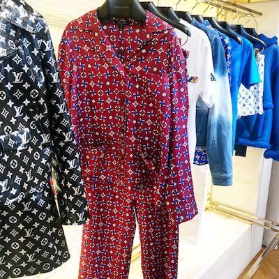 Red Monogram Top Pyjama
