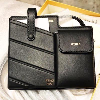 Black Two Pocket Mini Bag