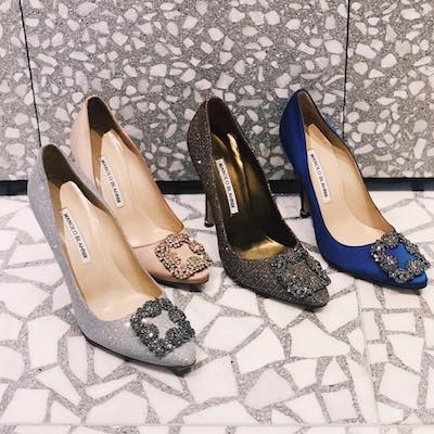 Blue Satin Hangisi Pump