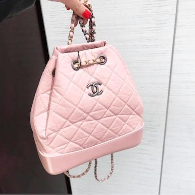 Light Pink Chanel Gabrielle's Backpack