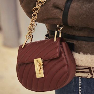 Maroon Mini Drew Bijou Shoulder Bag