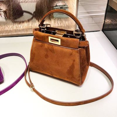 Peekaboo XS Brown Suede Minibag