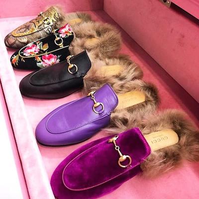 Princetown Velvet Slippers