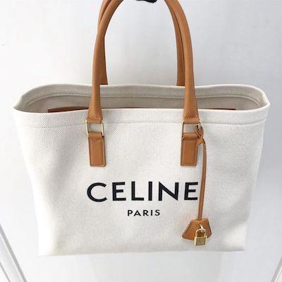 Celine Logo Tote Horizontal Model in Canvas