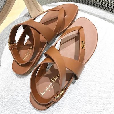 Brown Tied Up Leather Sandals