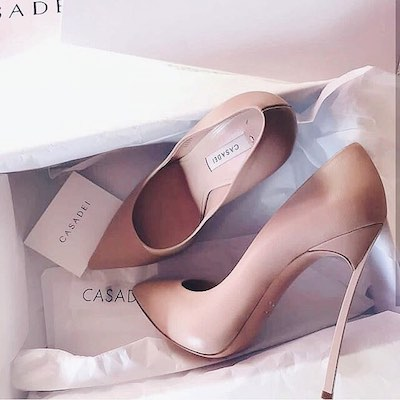 Blush Pink Blade Pumps
