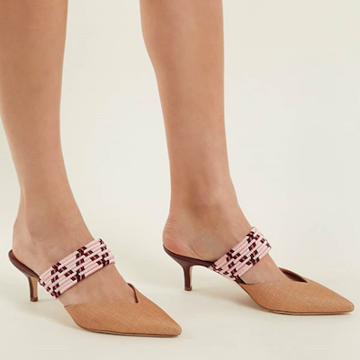 Woven Strap Mules