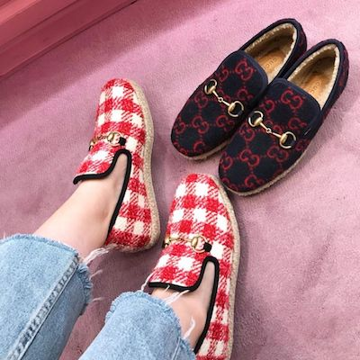 Checked Tweed Loafer