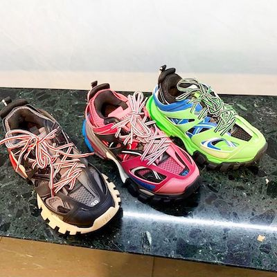 Multicolored Track Sneaker