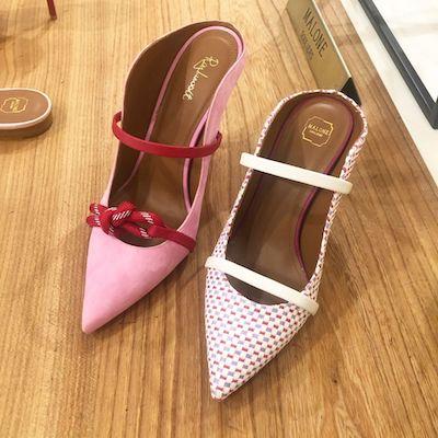 Pink Farrah Mules