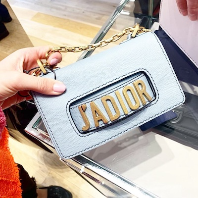 Sky Blue Mini J'Adior Calfskin Bag