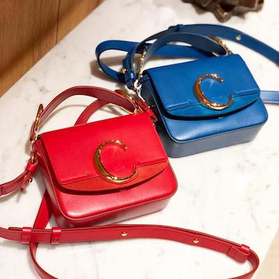 Red Small C Double shoulder bag