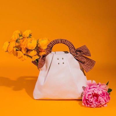 White Hazel Shopper Nappa Leather Shoulder Bag
