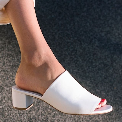 White Lamb 40mm Mules