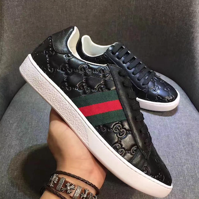 465a04402ef GUCCI Ace Signature Low-Top Sneakers | Kravelist.com