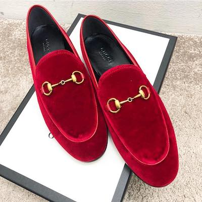 Gucci Jordaan Velvet Loafer