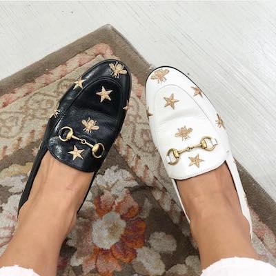 Black Gold Jordaan Leather Loafers