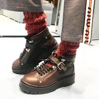 55 sock leather combat boots