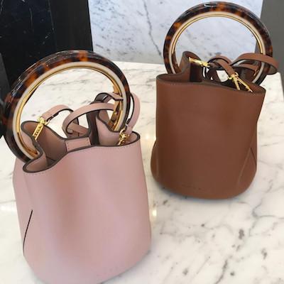 Dusty Pink Calfskin Pannier Bag