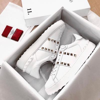 White Rockstud Untitled sneakers
