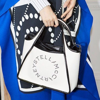 White Logo Shopper Tote Bag