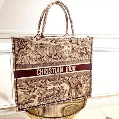 Dior Book Tote Bag Embroidered