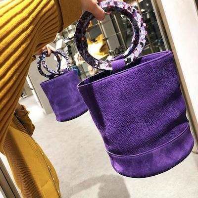 Purple Bucket Bag