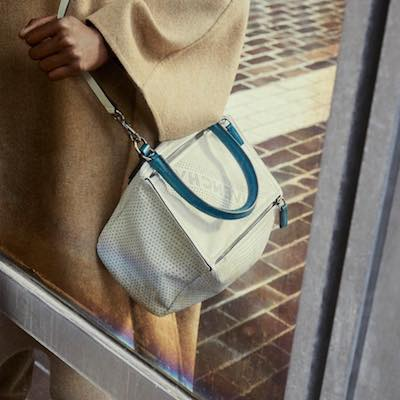 Perforated Small Pandora Bag in Leather