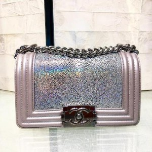 Chanel Boy Galuchat Small Flapbag in Polished Stingray