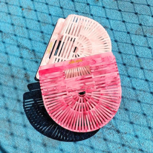 Pink Ark Clutch Bag