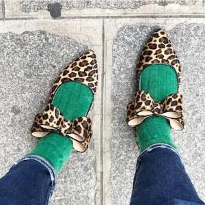 Leopard Print Ballerina Shoe