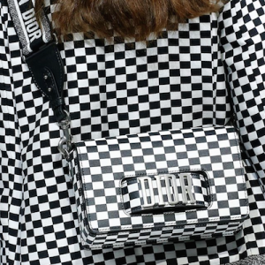 """""""Dio(r)evolution"""" Flap Bag in Black and White"""