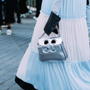 Silver Pierce Mini Cross Body Bag