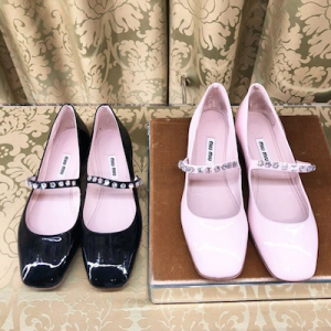 Patent Leather Mary Jane Ballerinas