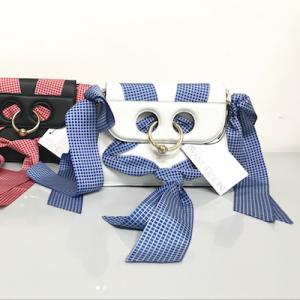 White Pierce Ribbon Cross Body Bag