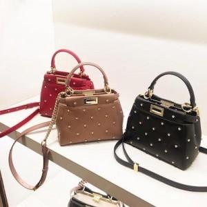 Peekaboo XS Pink Leather Mini-Bag