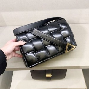 Black Padded Shoulder Bag