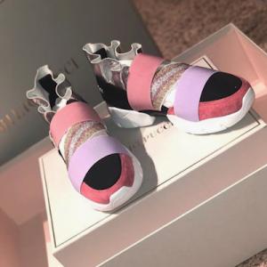 Metallic Ruffle Sneakers
