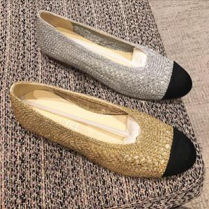 Gold Crochet Flats