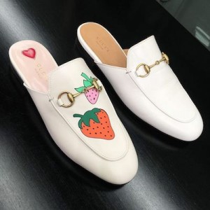 Princetown Gucci Mules Strawberry